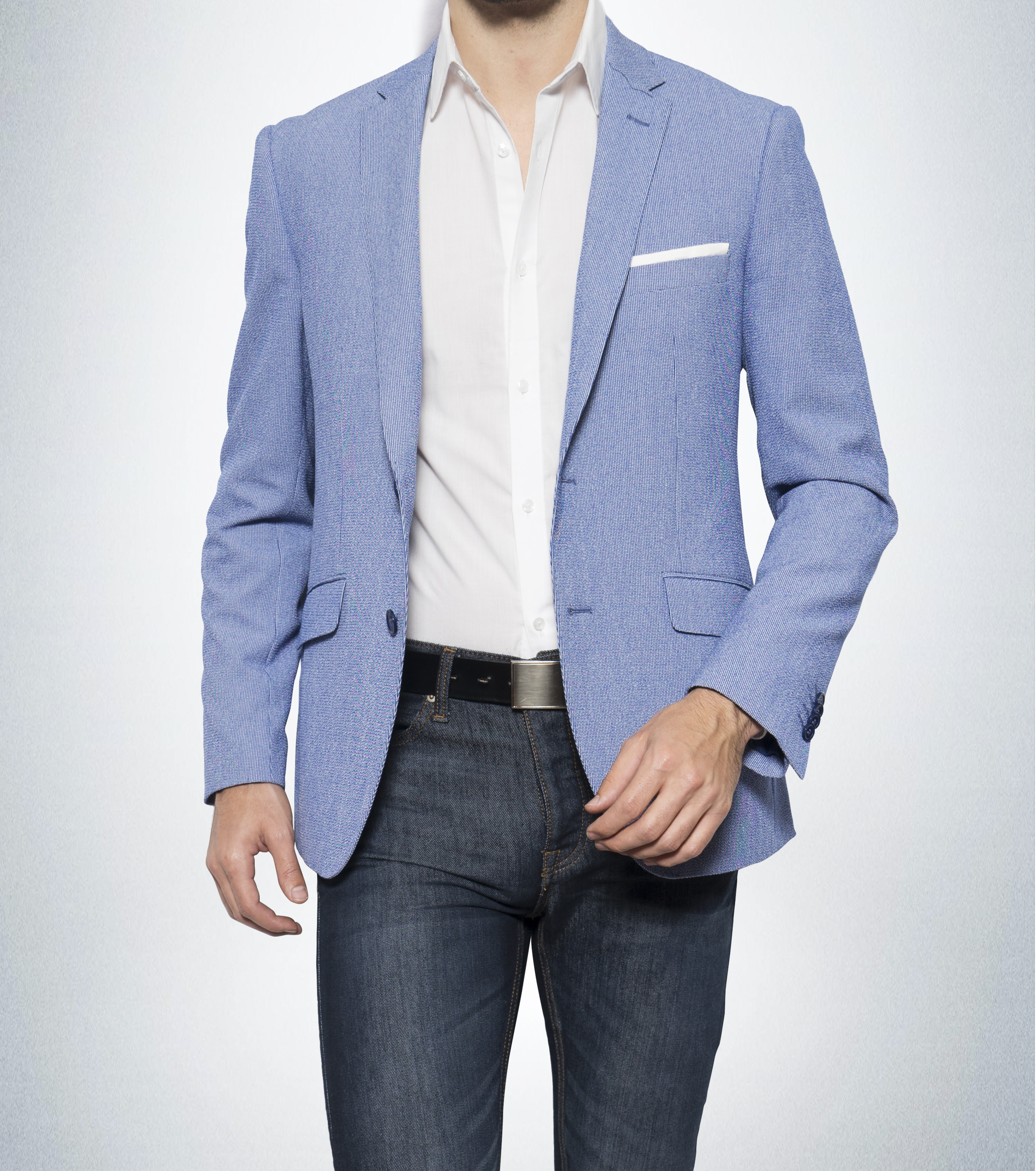 Light Blue Blazer Sports Jacket Mb18 C1670 1 Emmanuel